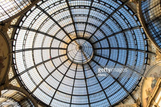 Central Dome In Iron And Glass Galleria Vittorio Emanuele Milan