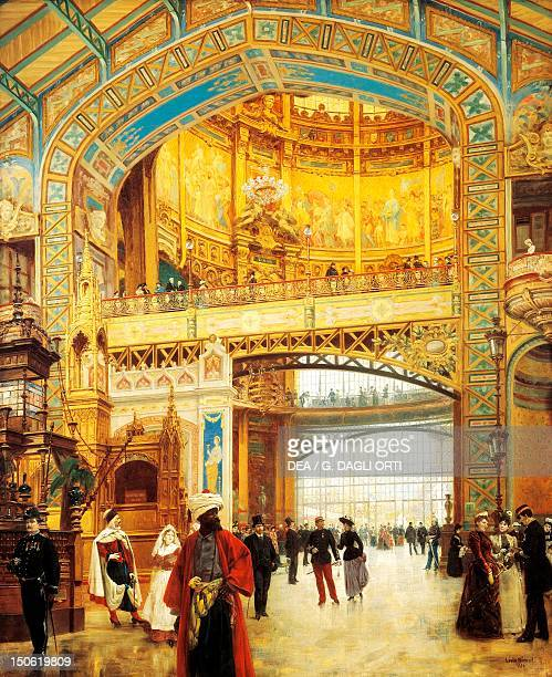 Central Dome of the Gallerie des Machines at the World Fair in Paris painted by Louis Beroud 46x61 cm