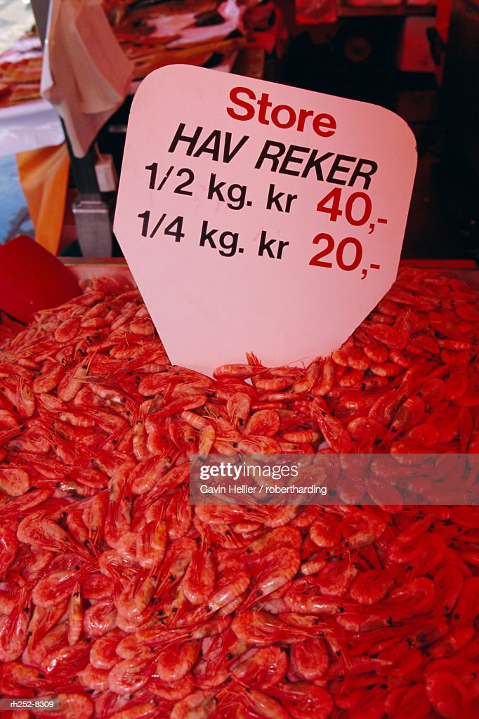 Central fish market, Torget, Bergen, Western Fjords, Norway, Scandinavia, Europe : Stockfoto
