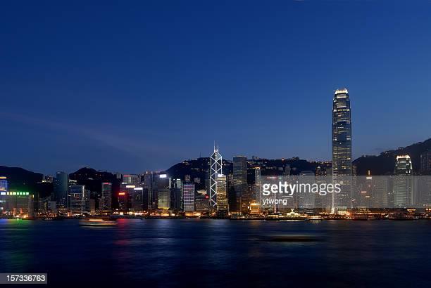 セントラル、香港の夜景