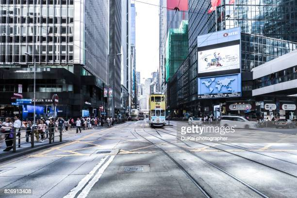central, hong kong crossroads - central stock pictures, royalty-free photos & images