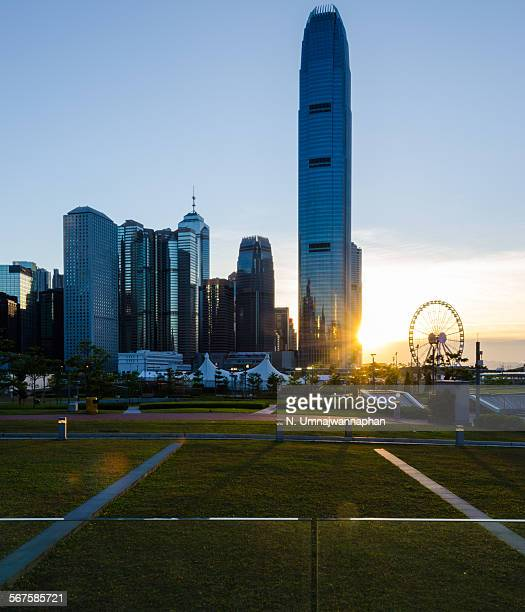 Central Hong Kong during the sunset