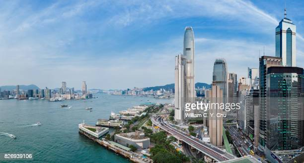 central, hong kong - two international finance center stock pictures, royalty-free photos & images