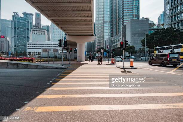 central, hong kong - pedestrian crossing stock photos and pictures