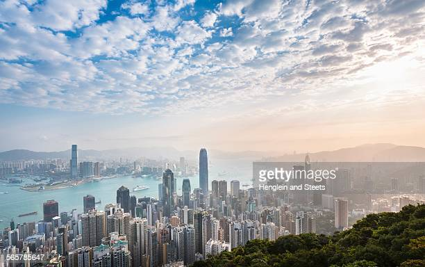 Central Hong Kong skyline and Victoria harbor, Hong Kong, China