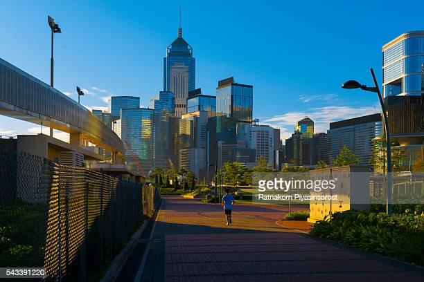 Central Hong Kong skyline at Victoria harbor, Hong Kong, China