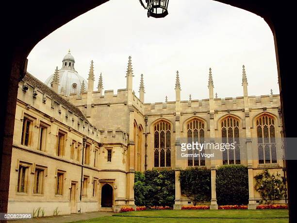 Central inner courtyard of the Queen's College of the University of Oxford.