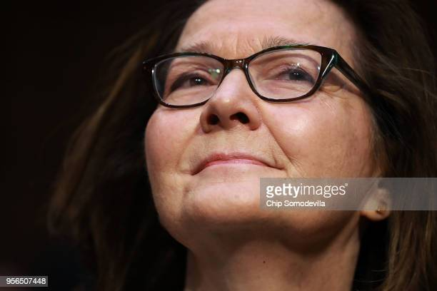 Central Intelligence Agency acting Director Gina Haspel testifies before the Senate Intelligence Committee during her confirmation hearing to become...