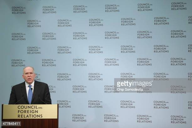 Central Intelligence Agency Director John Brennan delivers remarks at the Council on Foreign Relations March 11, 2014 in Washington, DC. Brennan...