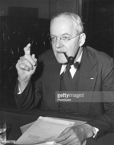 Central Intelligence Agency director nominee Allen Dulles appears before the Senate Armed Services Committee Washington DC February 19 1953