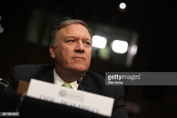 Central IntelligenceæAgency Director Mike Pompeo testifies before the Senate Intelligence Committee with the other heads of the US intelligence...