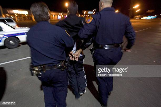 Central Islip Policemen arrest a drunk driver on November 11 in Central Islip New York The driver of Latin American origin had entered the wrong way...