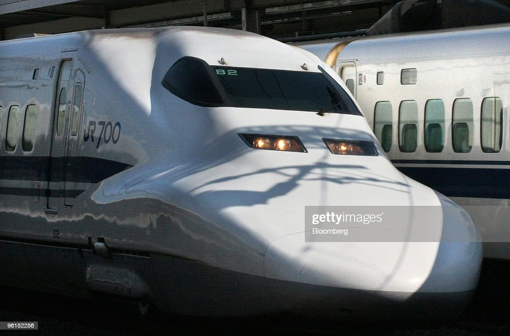 A Central Japan Railway Co  Shinkansen bullet train passes