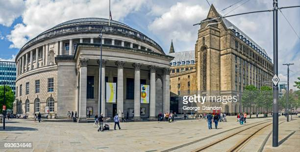 central library manchester - manchester england stock pictures, royalty-free photos & images