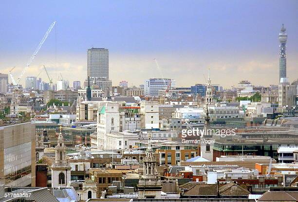 central london skyline - vogel stock pictures, royalty-free photos & images