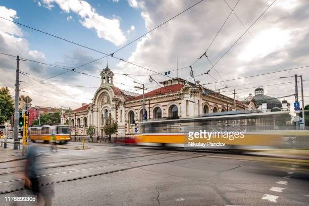 central market hall during the day in sofia city, bulgaria, eastern europe - creative stock image - sofia stock pictures, royalty-free photos & images
