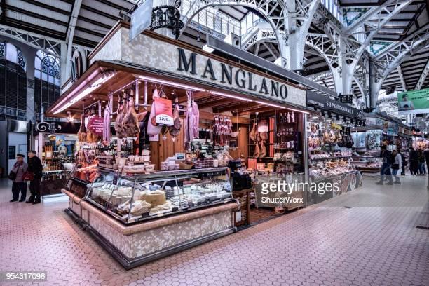 Zentralmarkt - Indoor Lebensmittelmarkt In Valencia, Spanien