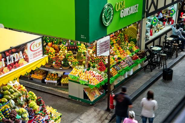Central Market of Sao Paulo in Brazil