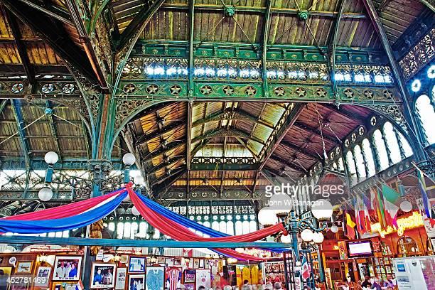 central market, santiago, chile - santiago chile stock pictures, royalty-free photos & images