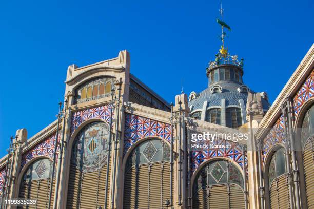 central market, valencia, spain - valencia stock pictures, royalty-free photos & images