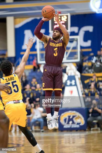 Central Michigan Chippewas G Marcus Keene shoots during the first half of the MAC men's basketball tournament game between the Central Michigan...