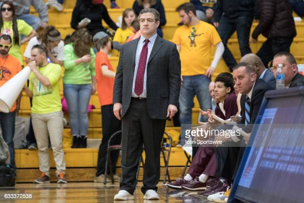 Central Michigan Chippewas head coach Keno Davis on the sideline during the first half of the men's college basketball game between the Central...