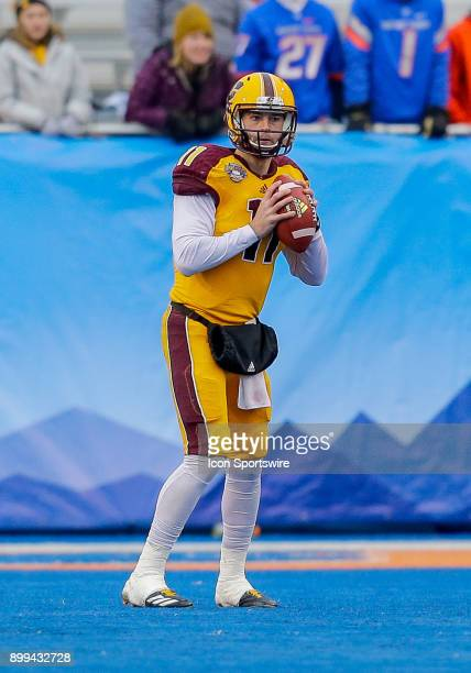 Central Michigan Chippewas quarterback Shane Morris during Famous Idaho Potato Bowl featuring the Central Michigan Chippewas and Wyoming Cowboys on...