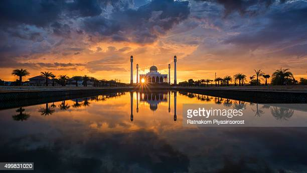Central Mosque beautiful during sunset, Hatyai, Songkhla, Thailand