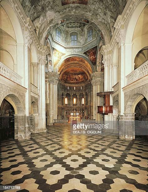 Central nave, Church of San Fedele, Como. Italy, 12th century.