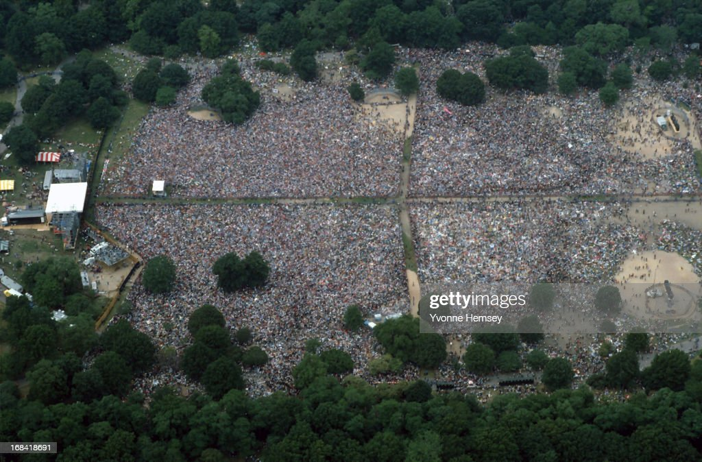 Central Park in New York City is photographed June 12, 1982 during a protest against nuclear energy and disarmament. 1.2 million people have marched from the United Nations and are gathering in Central Park.