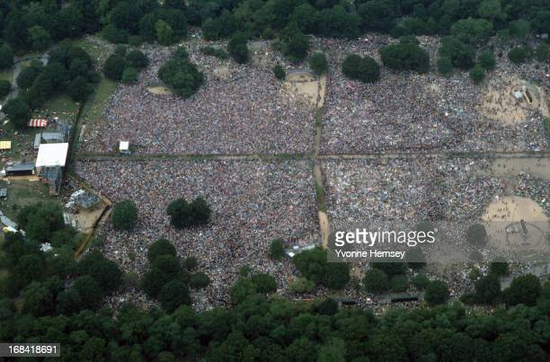 Central Park in New York City is photographed June 12 1982 during a protest against nuclear energy and disarmament 12 million people have marched...