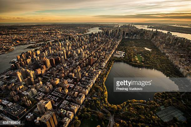 central park in new york - helicopter photos stock pictures, royalty-free photos & images