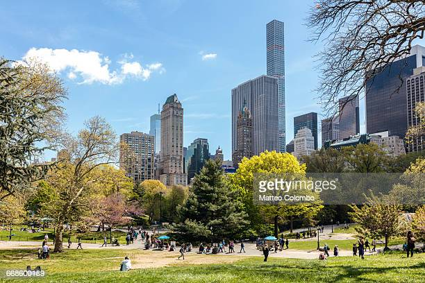 central park in springtime, new york city, usa - central park stock pictures, royalty-free photos & images