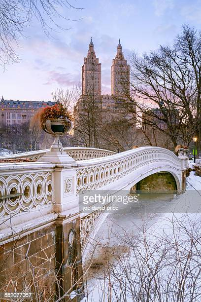 Central Park in the Snow, New York City, America