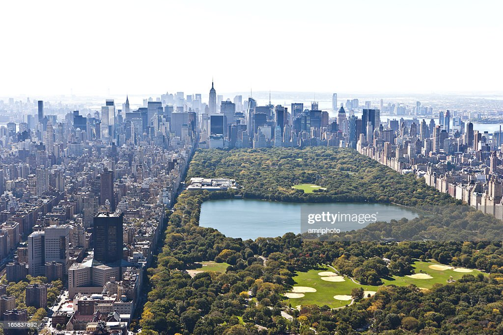 Central park manhattan aerial view stock photo getty images - Callejero manhattan ...