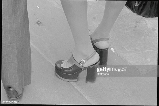 Central Park New York City High heel and high platform shoes Good candids of young women and closeups of shoes