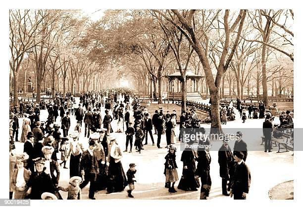 Central Park Panoramic View of the Mall c1902