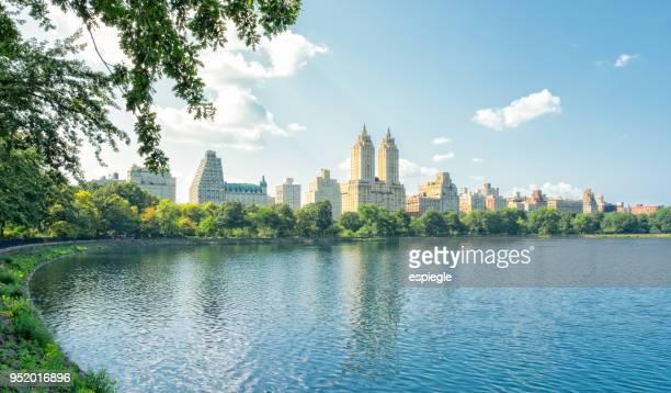 Central Park Reservoir and Upper West Side Manhattan