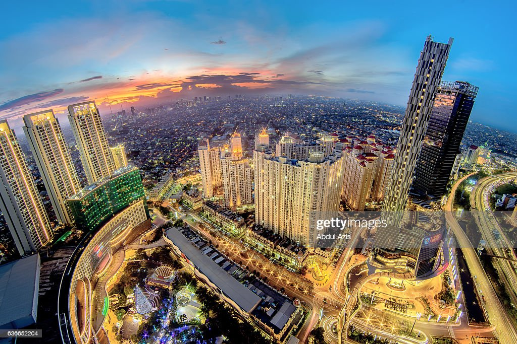 Central Park Shopping Mall - Jakarta Sunset : Stock Photo