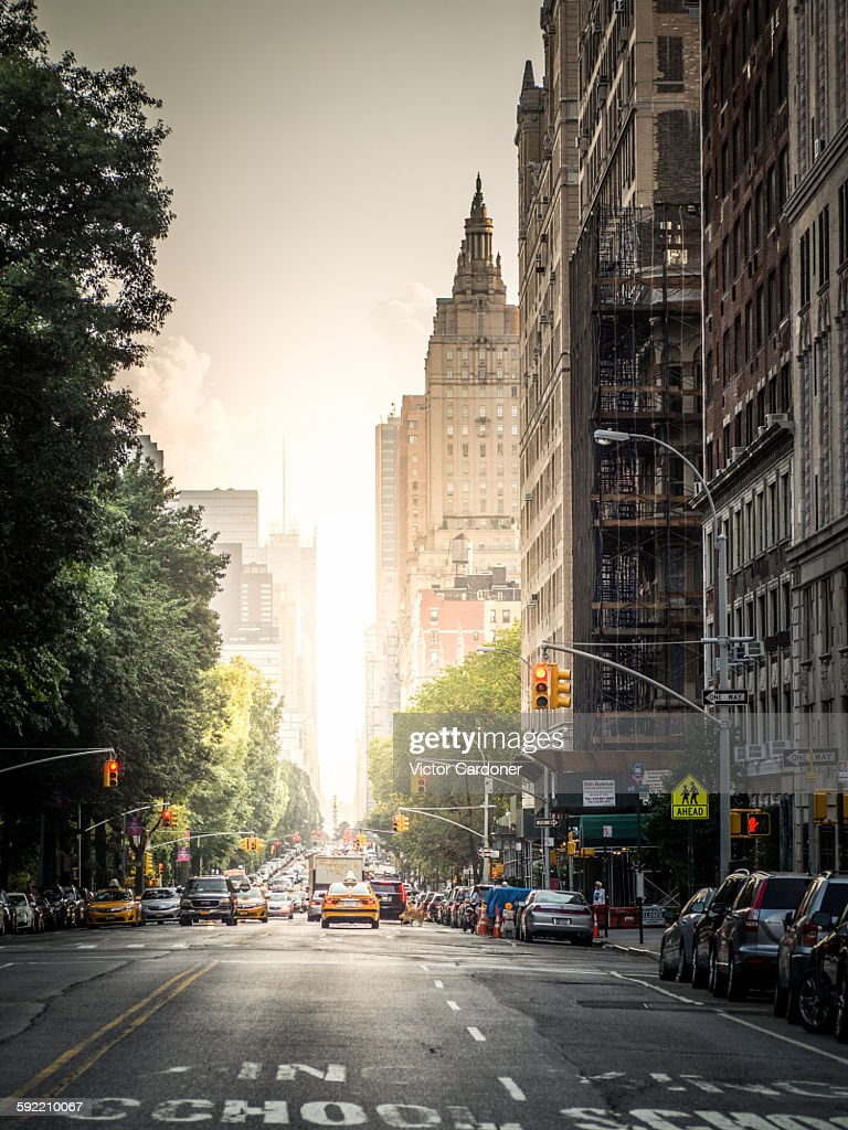 Central Park West, New York : Stock Photo