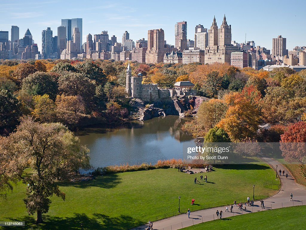 Central Park West Skyline in Autumn : Stock-Foto