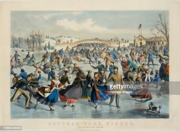 Central Park, Winter - The Skating Pond, 1862. Artist Lyman Wetmore Atwater.