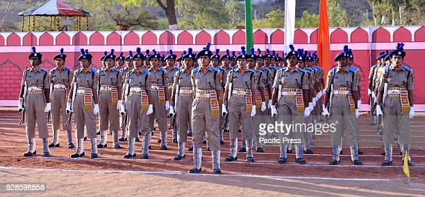 Central Police Force India's first female battalion oath taking ceremonywherein they will be deployed in Naxal areas afterwards