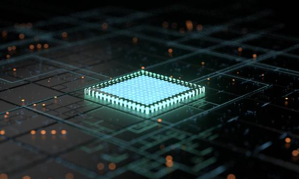 5G central processing unit and circuit board rendering