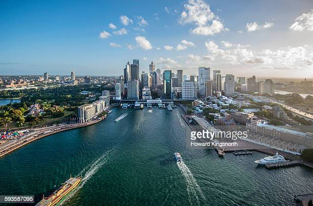 Central Quay Sydney Harbour from the air