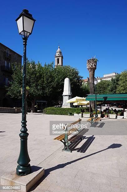 Central Square in Sartene, Corsica, France