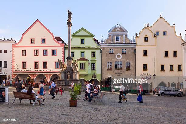 Central square of Cesky Krumlov, Czech Republic