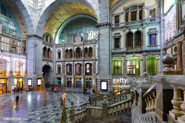 central station von antwerpen, belgien - antwerp city belgium stock-fotos und bilder