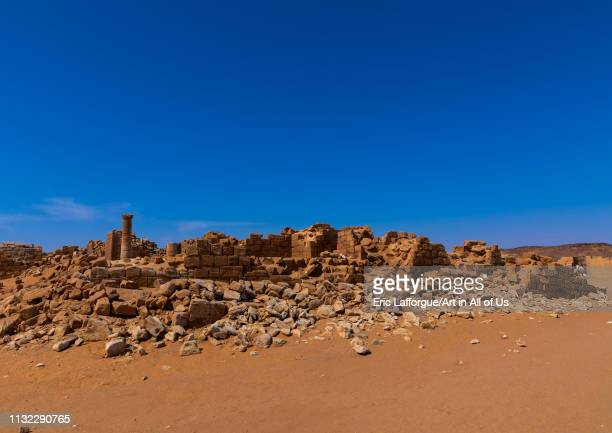 Central terrace in the great enclosure in Musawwarat essufra meroitic temple complex Nubia Musawwarat esSufra Sudan on December 29 2018 in Musawwarat...
