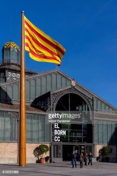 Centre Cultural del Born newly restored cultural center in the old Born market Barcelona Catalonia Spain